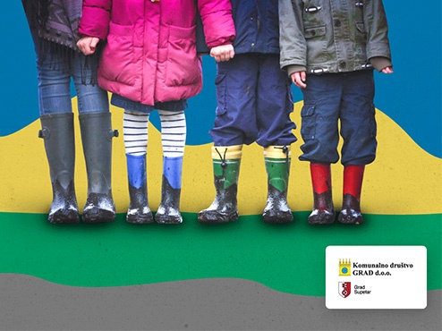 Ilustracija edukacije mladih za odvajanje otpada