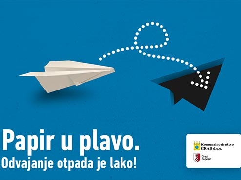 Ilustracija odvajanja otpada - papir