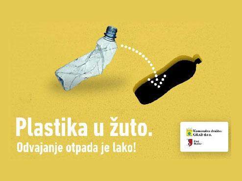 Ilustrativni plakat akcije odvajanja otpada